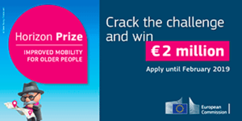 Horizon prize: Improved mobility for older people (€2 million)