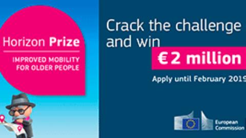 Horizon prize: Improved mobility for older people (€2 million)